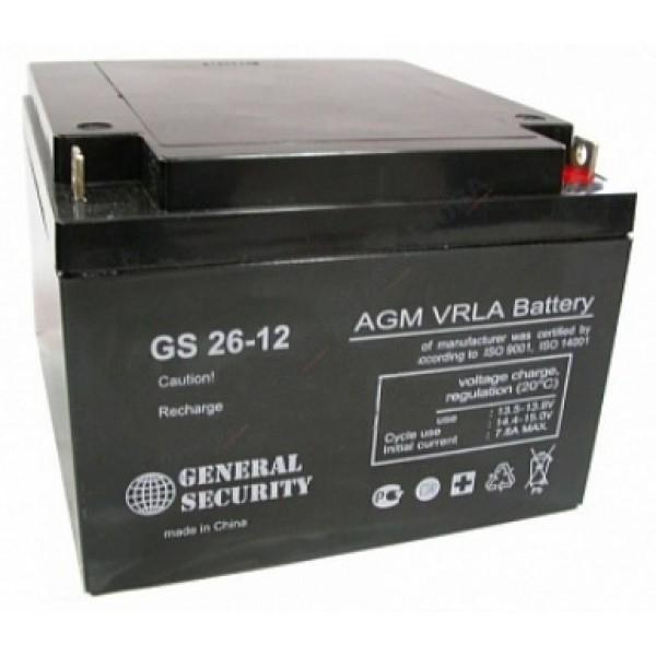 Аккумулятор General Security GS 12-26