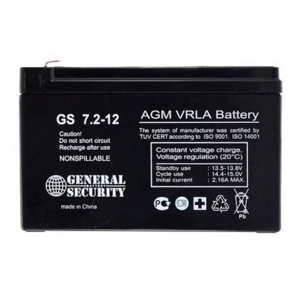 Аккумулятор General Security GS 12-7.2