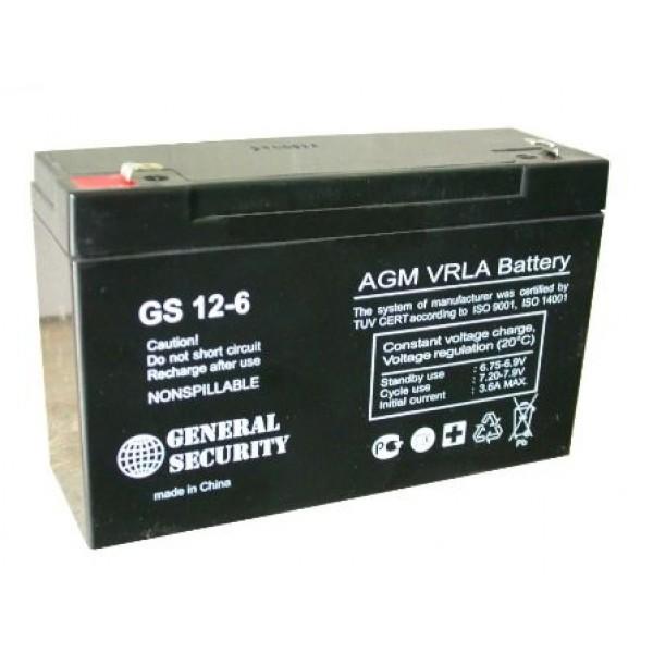 Аккумулятор General Security GS 6-12