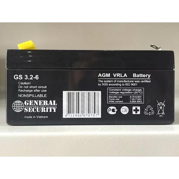 Аккумулятор General Security GS 6-3.2