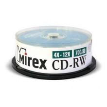 Диск CD-RW Mirex 700 Mb, 12х, Cake Box (25), (25/300) арт.:UL121002A8M