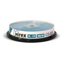 Диск CD-RW Mirex 700 Mb, 12х, Cake Box (10), (10/300) арт.:UL121002A8L