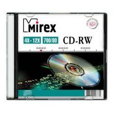 Диск CD-RW Mirex 700 Mb, 12х, Slim Case (1), (1/200) арт.:UL121002A8S