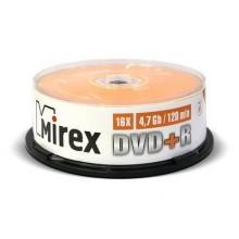 Диск DVD+R Mirex 4.7 Gb, 16x, Cake Box (25), (25/300) арт.:UL130013A1M