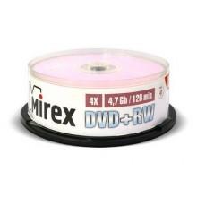 Диск DVD+RW Mirex 4.7 Gb, 4x, Cake Box (25), (25/300) арт.:UL130022A4M
