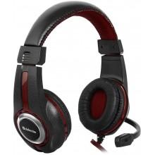 Defender Гарнитура игровая Warhead G-185 черный + красный, кабель 2 м арт.:64106
