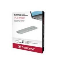 Комплект с корпусом для установки SSD Transcend TS-CM80S, M.2, USB 3.1, Enclosure Kit, Серебристый