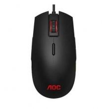AOC Мышь игровая профессиональная GM500, многоцветная RGB, 5000 dpi., Pixart 3325, USB кабель 1,8 м, чёрный. арт.:GM500DRBR/01