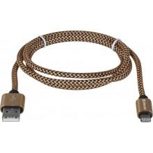 Defender кабель ACH01-03T PRO USB2.0 Золотой, AM-LightningM,1m,2.1А арт.:87806